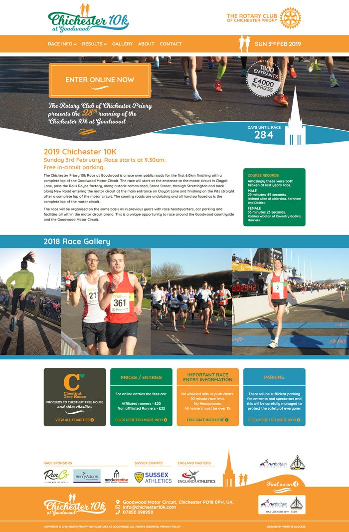 Chichester 10k Full Website Design & Build