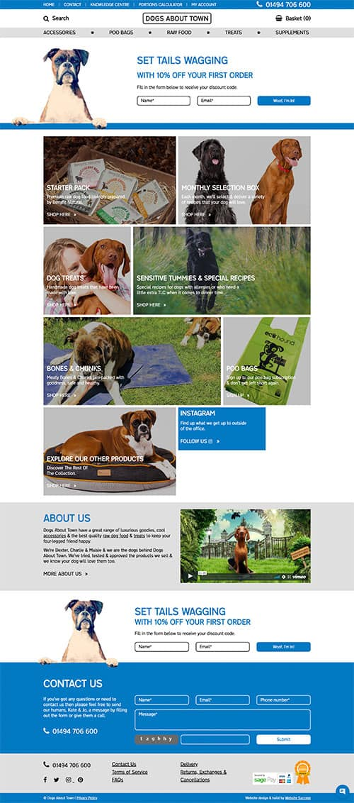 Dogs About Town Full Website Design & Build