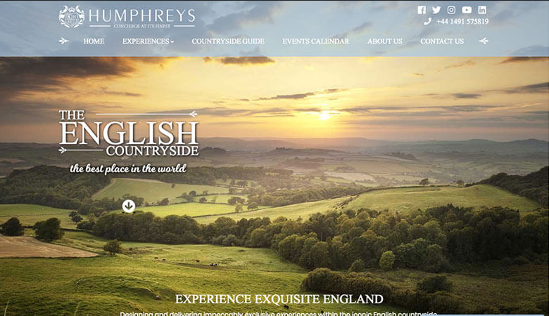 Humphreys of Henley website on desktop