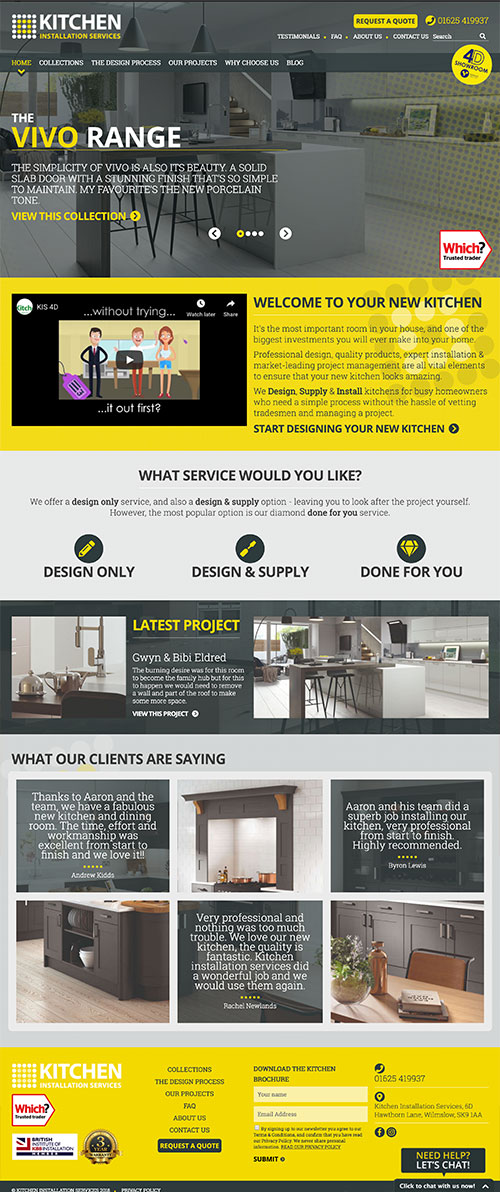 Kitchen Installation Services Full Website Design & Build