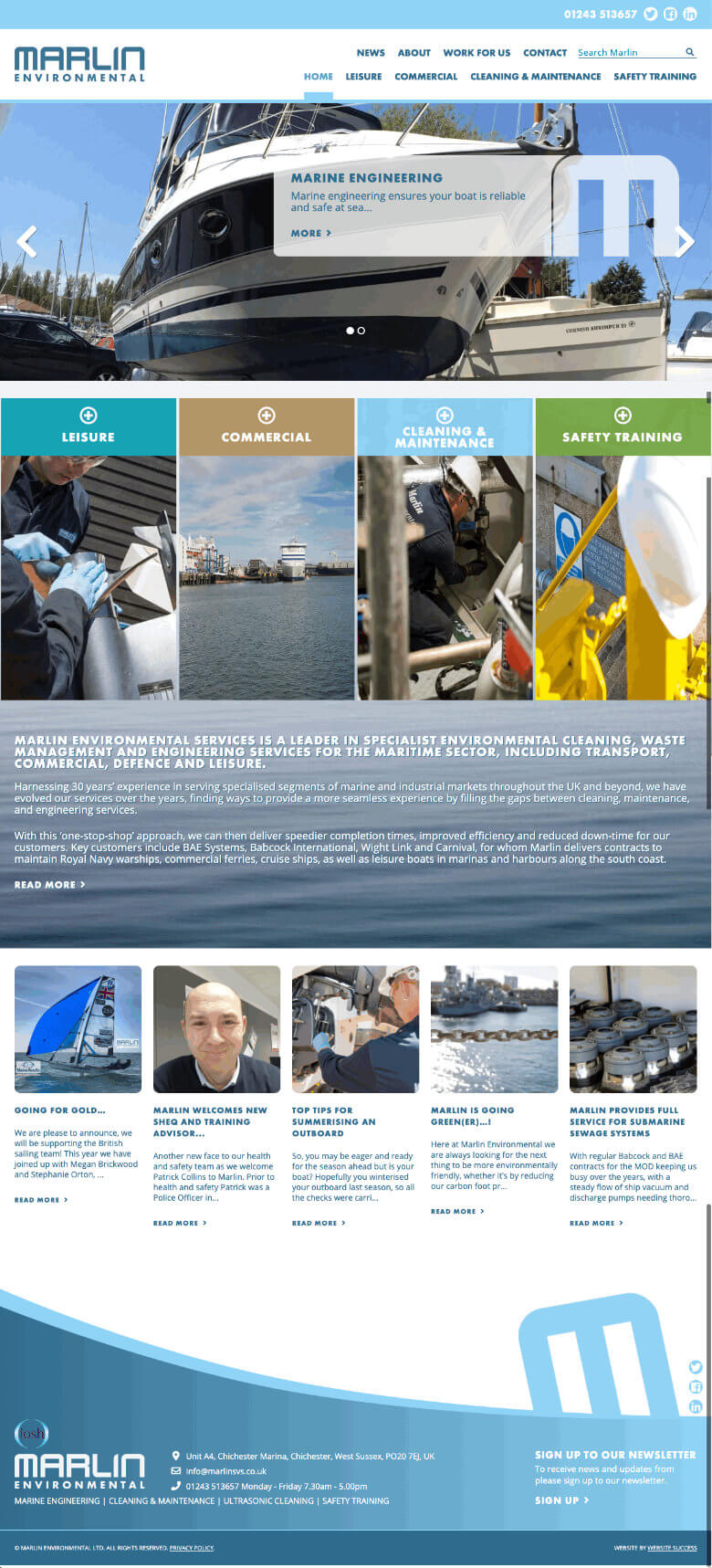 Marlin Full Website Design & Build