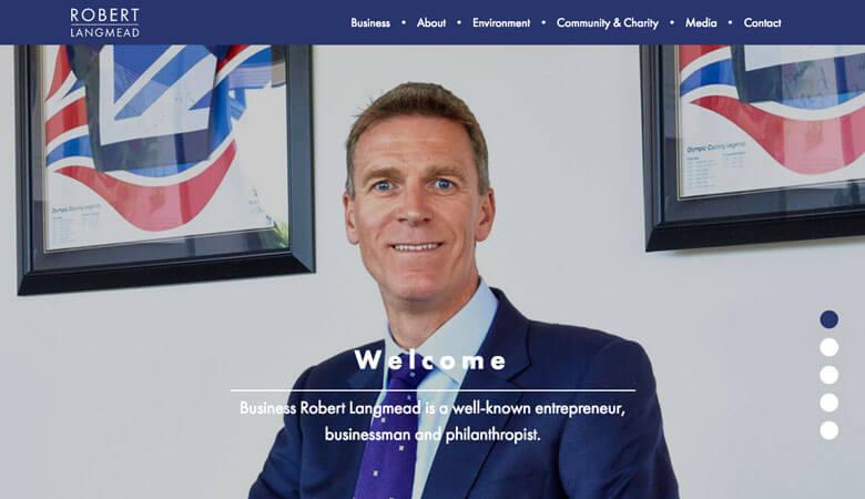 Robert Langmead website on desktop