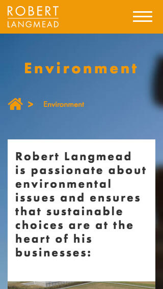 Robert Langmead website on mobile
