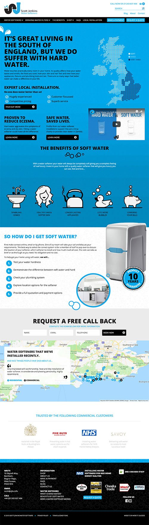 Scott Jenkins Water Softeners Full Website Design & Build