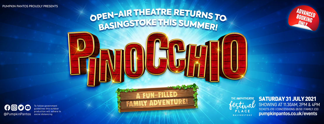 Pinocchio on the Amphitheatre, Basingstoke, Festival Place