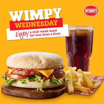 Wednesday Meal Deal at Wimpy, Festival Place, Basingstoke