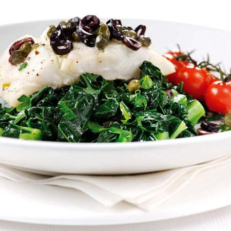 Picture of Roasted Cod on Cavolo Nero
