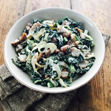 Picture of Creamy Cavolo Nero & Chestnut Stir Fry