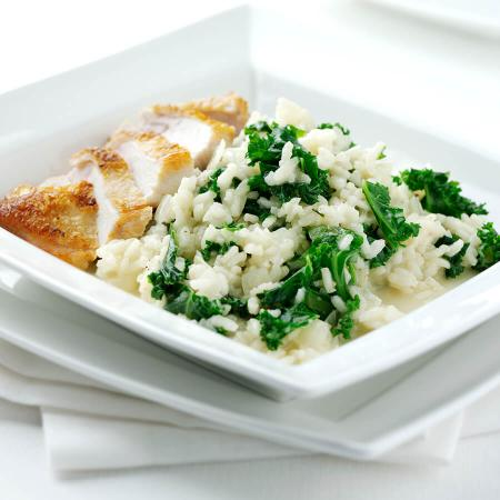 Kale Risotto with Parmesan