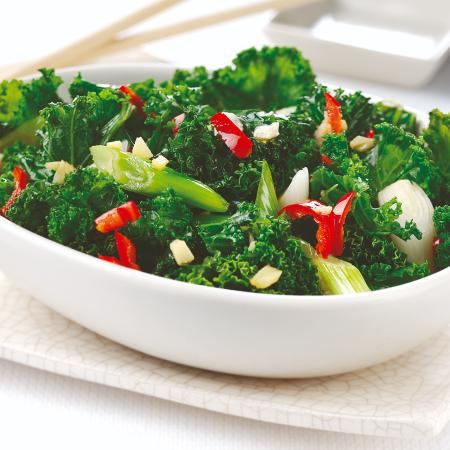 Kale with Ginger, Garlic and Chilli