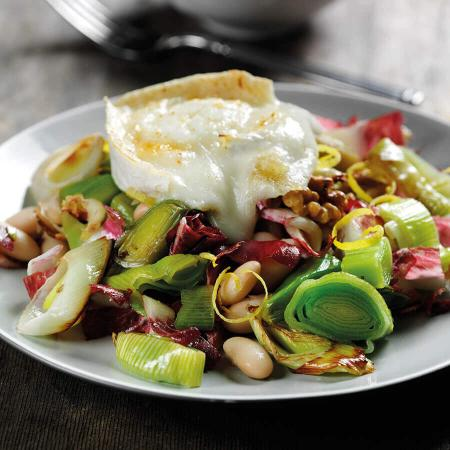 Picture of Roast Leek Chicory & Bean Salad