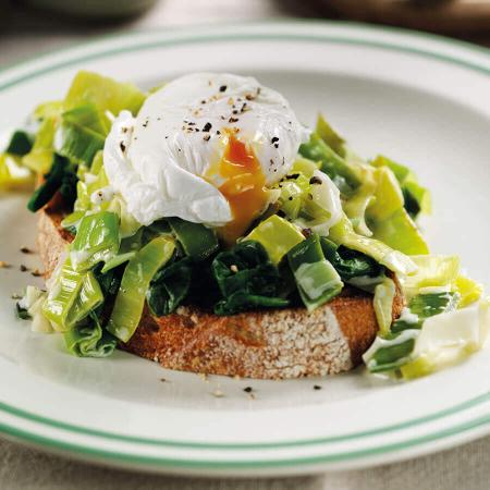 Picture of Sourdough with Creamed Leeks and Poached Eggs