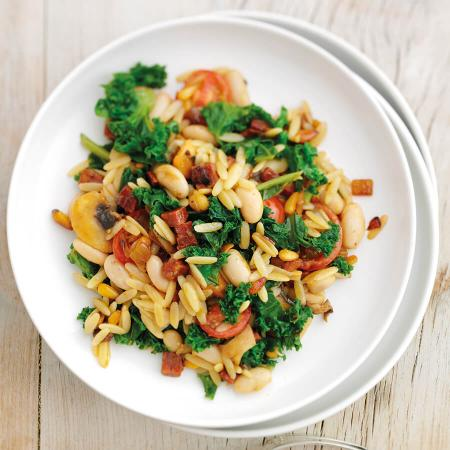 Orzo with Kale and Chorizo