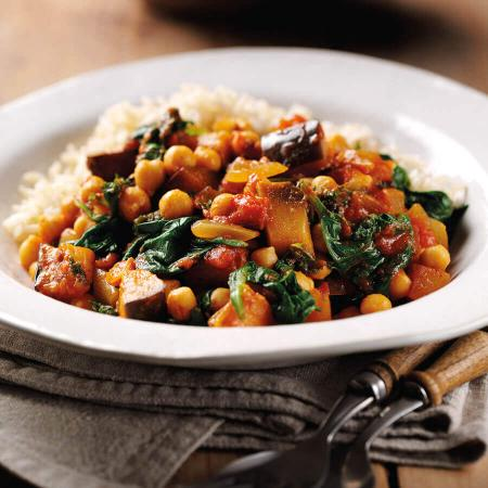 Picture of a Spinach & Aubergine Curry