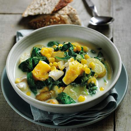 Picture of a Spinach & Haddock Chowder