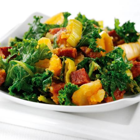 Kale Bubble & Squeak with Chorizo