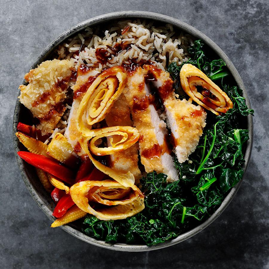 A Korean Chicken Rice Bowl