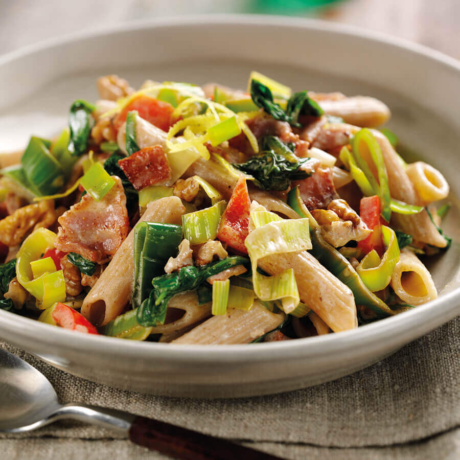 Picture of Leek & Spinach Pasta with Bacon