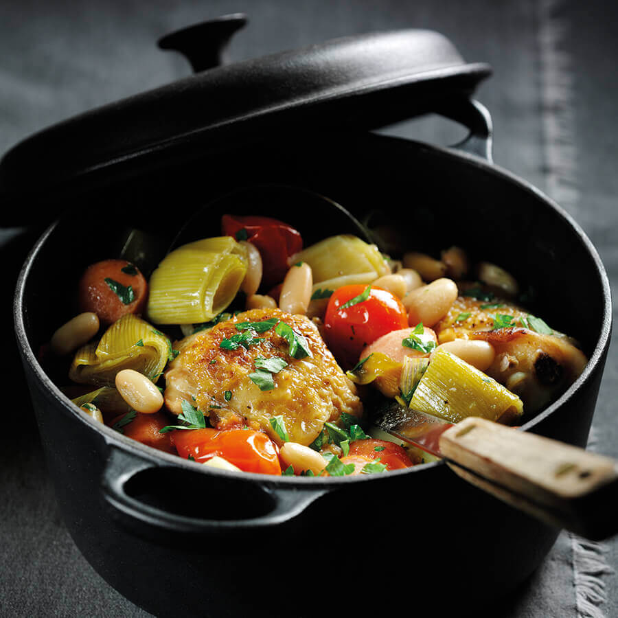 Picture of Chicken & Leek Cassoulet