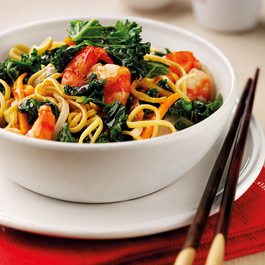 Chinese Prawn & Kale Stir Fry