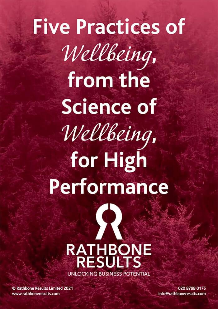 Webinar: Introduction to the 5 Practices of Wellbeing, from the Science of Wellbeing, for High Performance