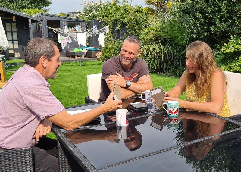 Haywood Landscapes talking to homeowner