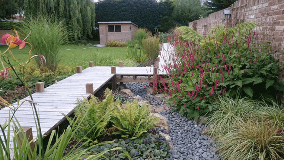 design solutions for a waterlogged garden