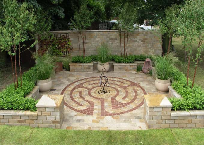 The Silver Medal winning courtyard style garden