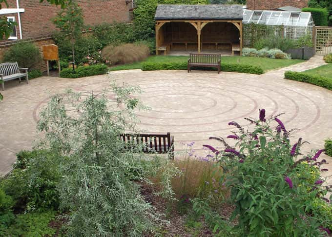 A birds eye view of The Pilgrims Hospices\' Therapeutice Garden