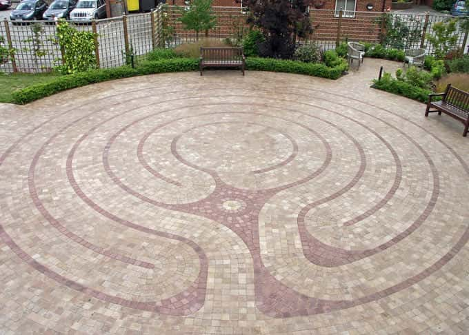 Walking the labyrinth is therapeutic for hospice residents, carers and staff alike