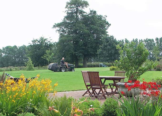 Striking views in a country garden