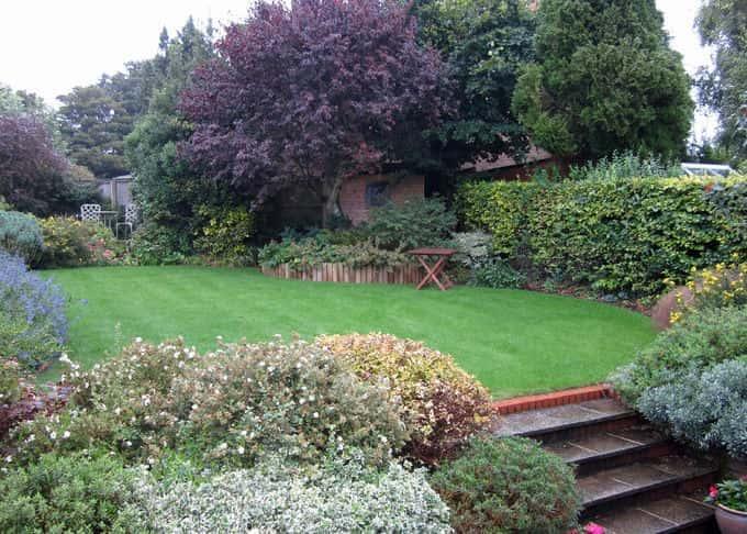 An informal garden offers a beautiful refuge