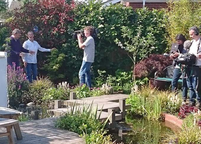 Filming with Alan Titchmarsh for ITV\'s \'Love Your Garden\'