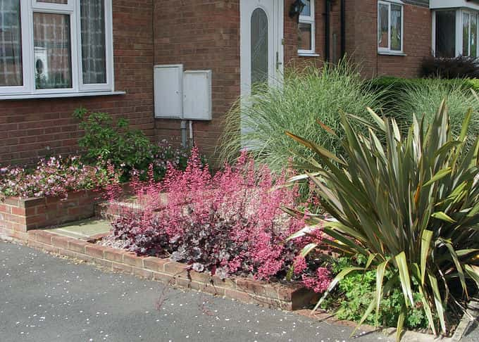 Three years on plants provide a degree of privacy without overwhelming the small area