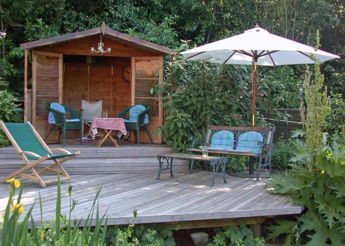 Deck chair at the ready on this fine Cedar deck
