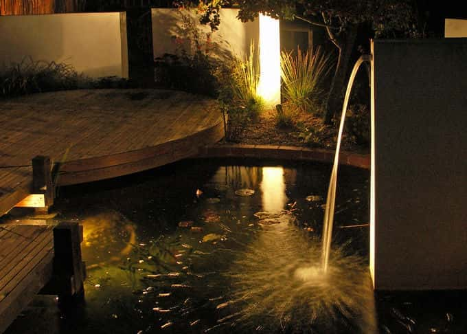 Our well designed lighting will bring your garden alive at night