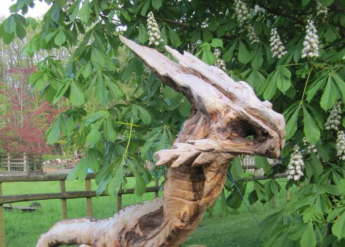 A dragonesque chainsaw sculpture(looking for a good home!)