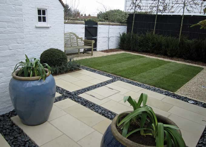 Sawn paving gives a contemporary feel
