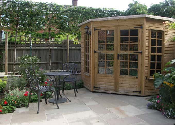 After – pleached trees provide seclusion without loss of garden space