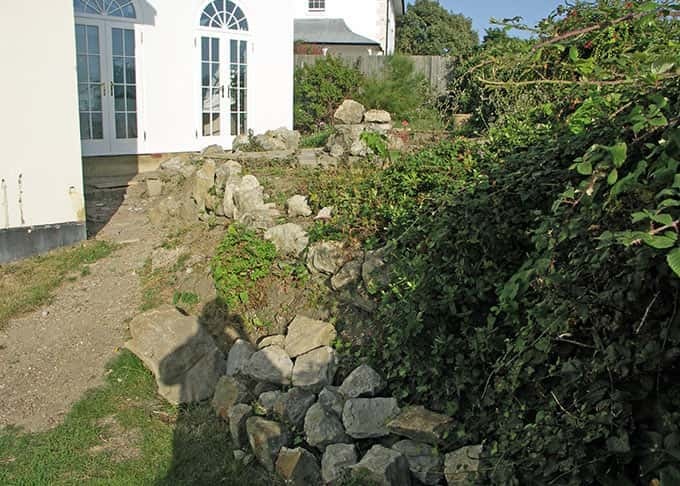 Walls and steps will enhance the beauty of your garden