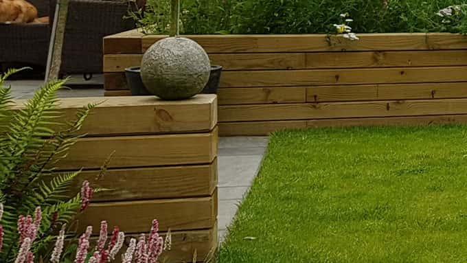 Attention to detail and finishing turn plain railway sleepers into smart archetectural features