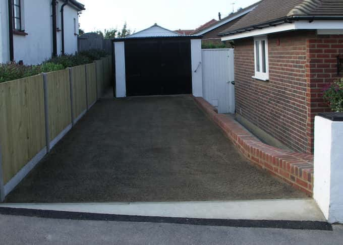 The stabilised trays are installed complete with growing media and grass seed