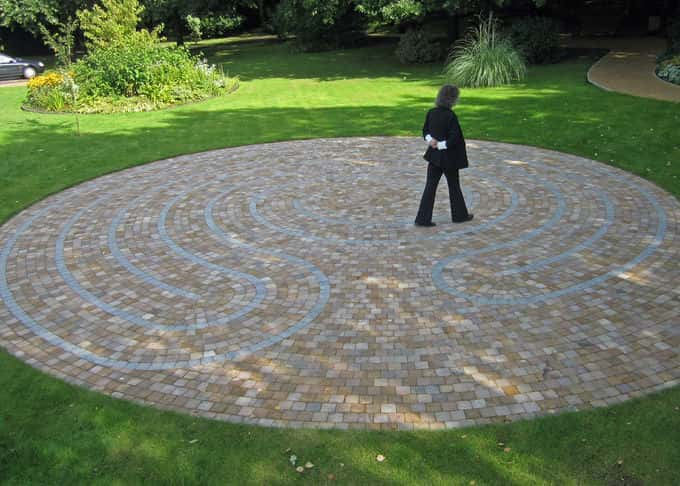 Labyrinths are used in palliative care - Princess Alice Hospice, Esher