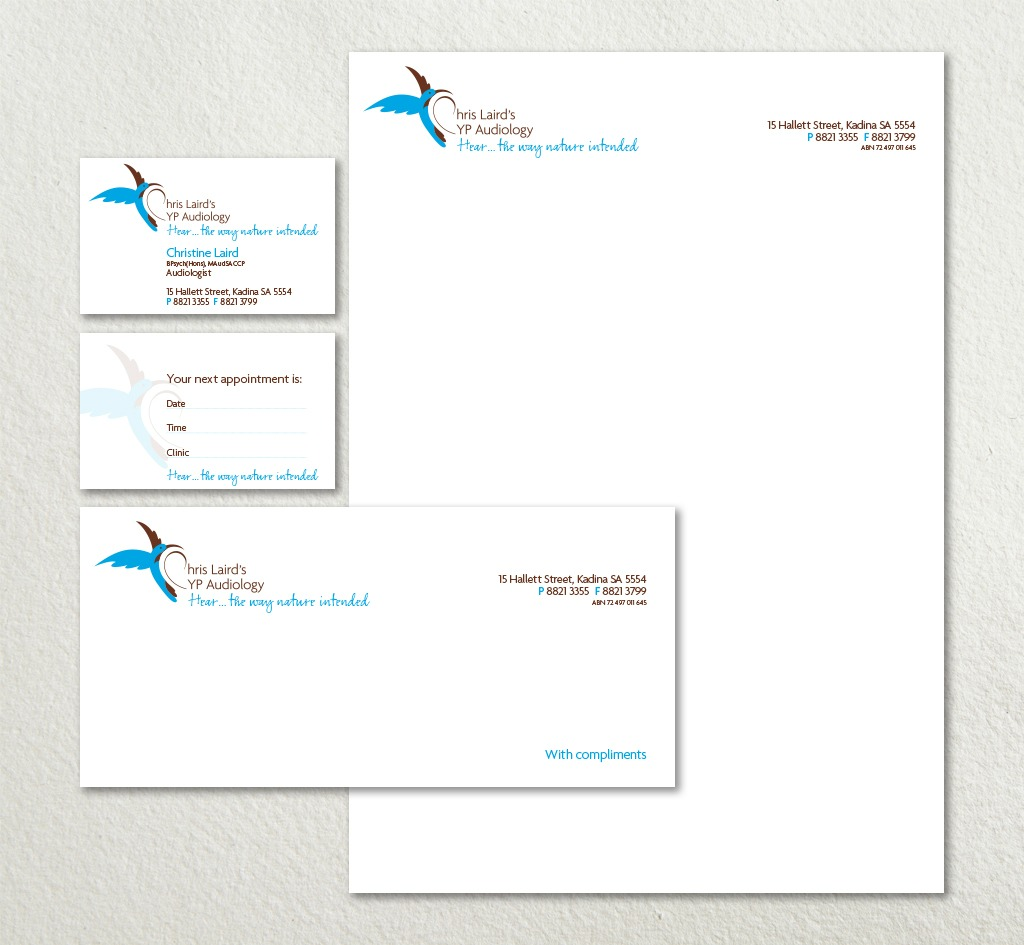 Chris Laird's YP Audiology : Stationery