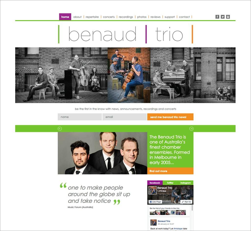 Benaud Trio : Website