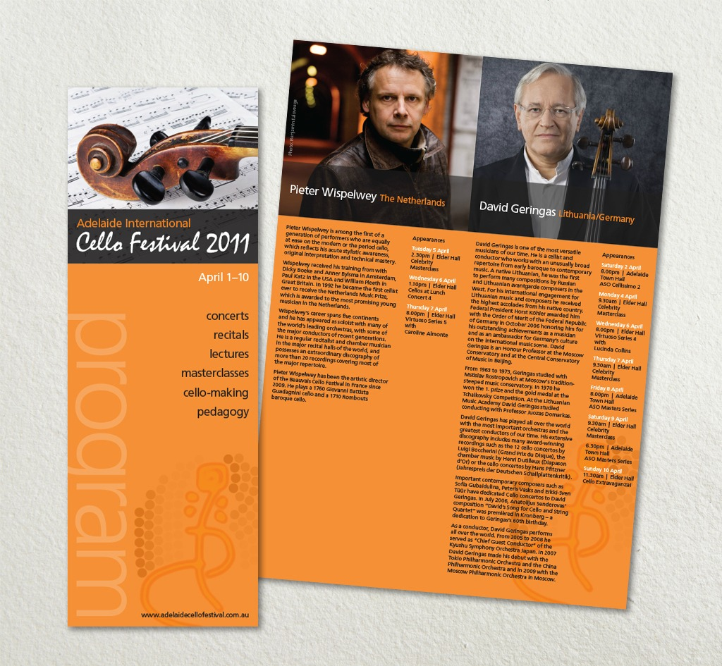Adelaide International Cello Festival : Print