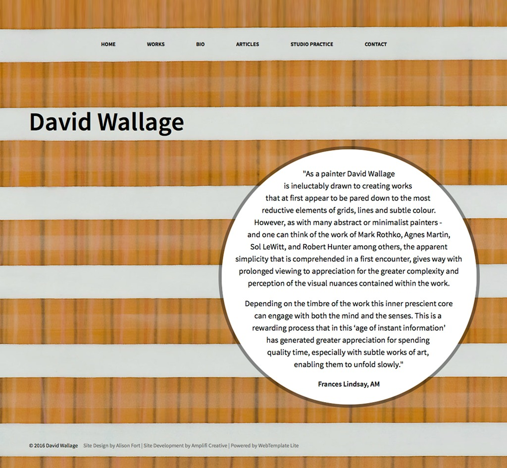 David Wallage : Website
