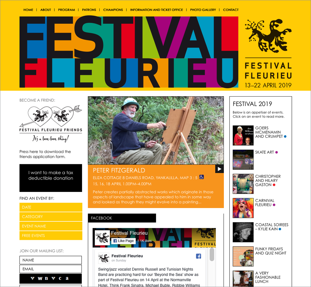 Festival Fleurieu : Website