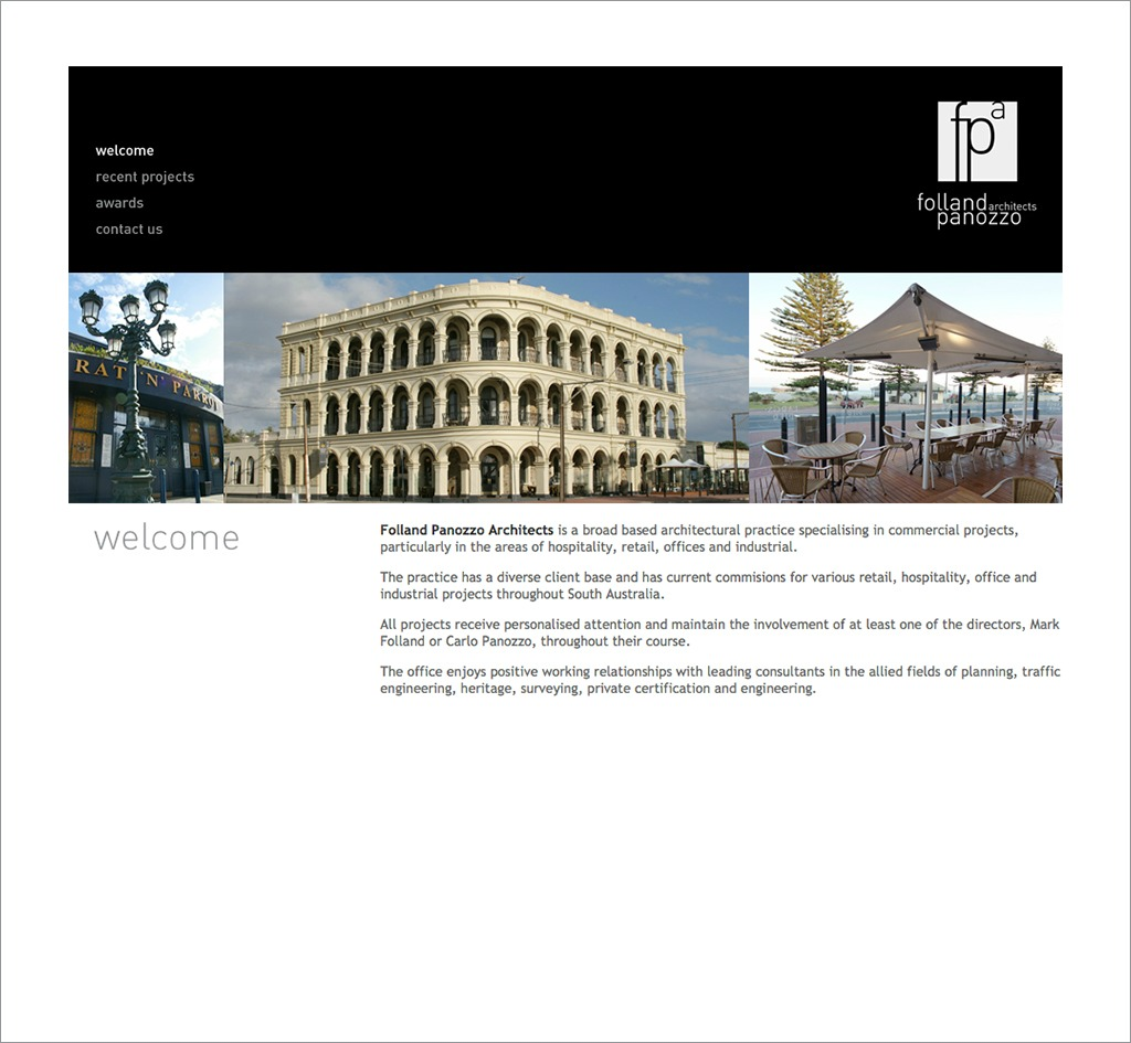Folland Panozzo Architects : Website