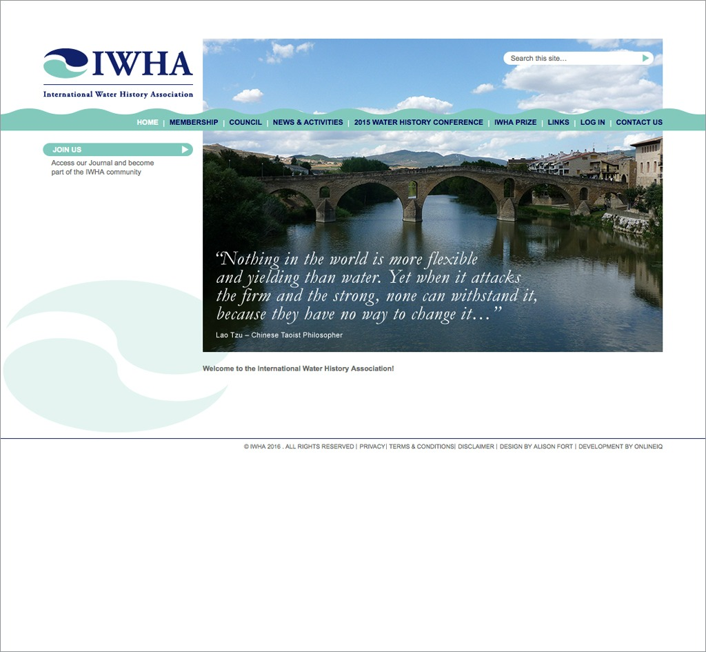 International Water History Association (IWHA) : Website